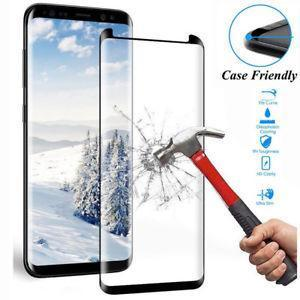 Tempered Glass for Samsung Galaxy S Series (Standard) - S8 - Case Friendly Black