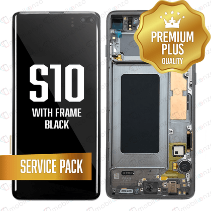 OLED Assembly for Samsung Galaxy S10 With Frame - Black (Service Pack)