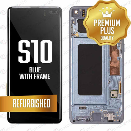LCD for Samsung Galaxy S10 With Frame - Blue