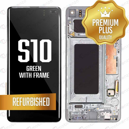 LCD for Samsung Galaxy S10 With Frame - Green