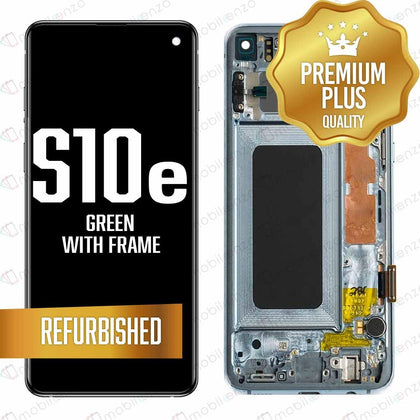 LCD for Samsung Galaxy S10 E With Frame Green