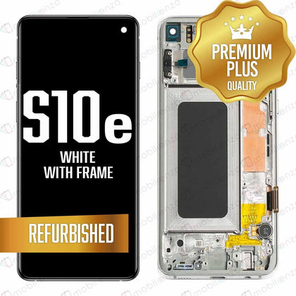 LCD for Samsung Galaxy S10 E With Frame White