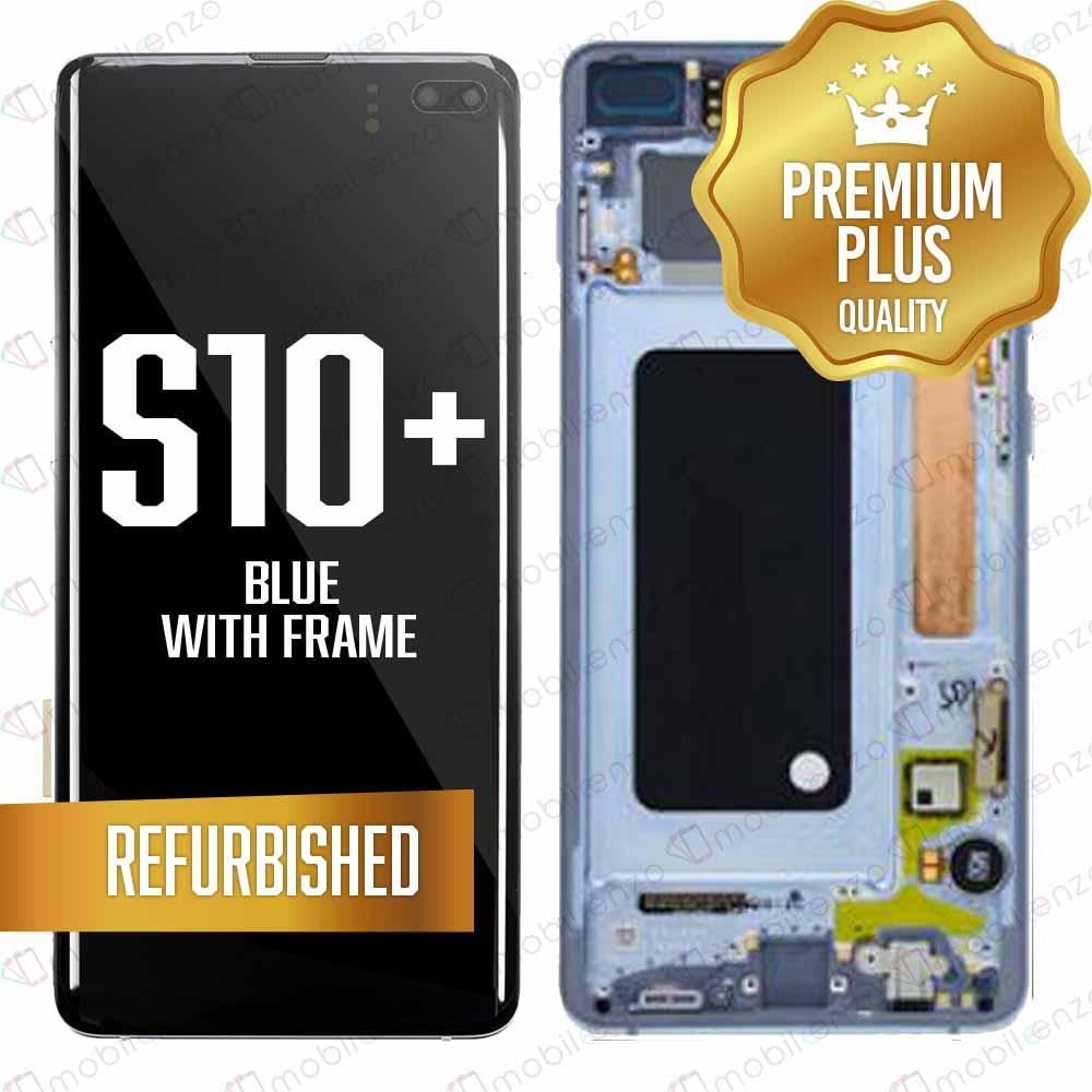 LCD for Samsung Galaxy S10 Plus With Frame - Blue