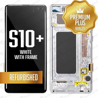 LCD for Samsung Galaxy S10 Plus With Frame - White