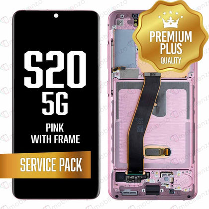 OLED Assembly for Samsung Galaxy S20 / 5G With Frame - Cloud Pink (Service Pack)