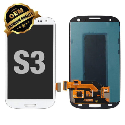 LCD Assembly for GALAXY S3 (Premium) - White | MobilEnzo