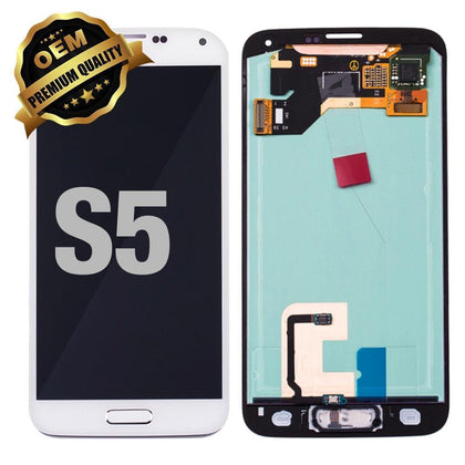 LCD Assembly for GALAXY S5 (G900) (Premium) - White | MobilEnzo