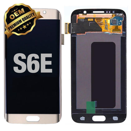 LCD Assembly for GALAXY S6 EDGE (G925) (Premium) - Gold | MobilEnzo