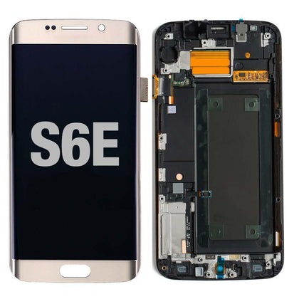 LCD for Samsung Galaxy S6 Edge with Frame Gold