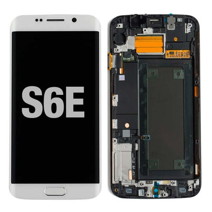 LCD for Samsung Galaxy S6 Edge with Frame White