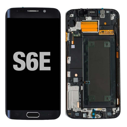 LCD for Samsung Galaxy S6 Edge with Frame Black