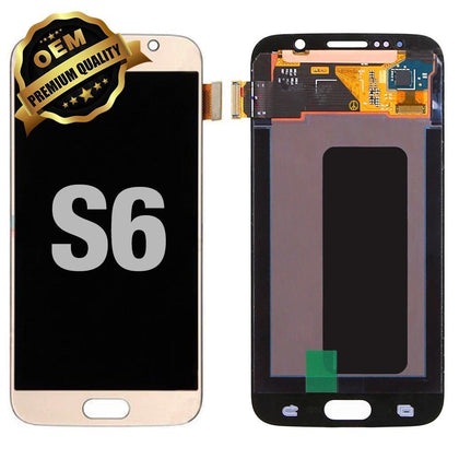 LCD Assembly for GALAXY S6 (G920) (Premium) - Gold | MobilEnzo