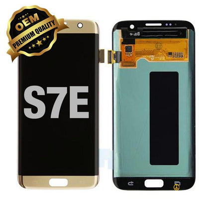 LCD Assembly Without Frame for GALAXY S7 EDGE (G935) (Premium) - Gold | MobilEnzo