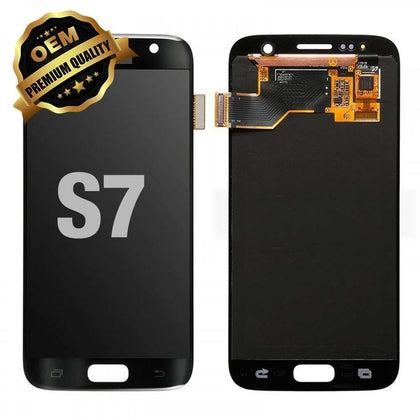 LCD Assembly for GALAXY S7 (G930) (Premium) - Black | MobilEnzo