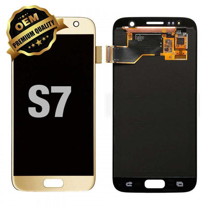 LCD Assembly for GALAXY S7 (G930) (Premium) - Gold | MobilEnzo