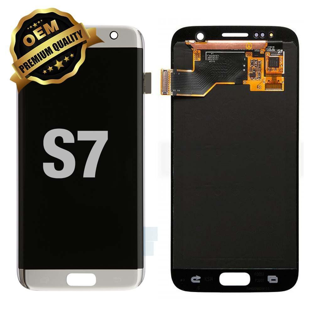 LCD Assembly for GALAXY S7 (G930) (Premium) - Silver