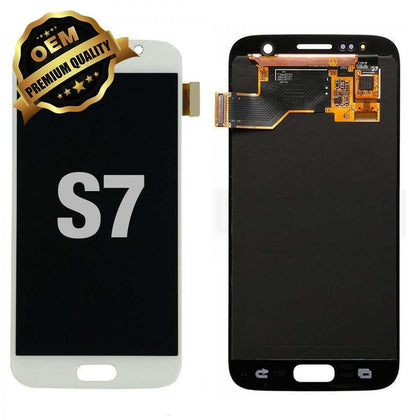 LCD Assembly for GALAXY S7 (G930) (Premium) - White | MobilEnzo