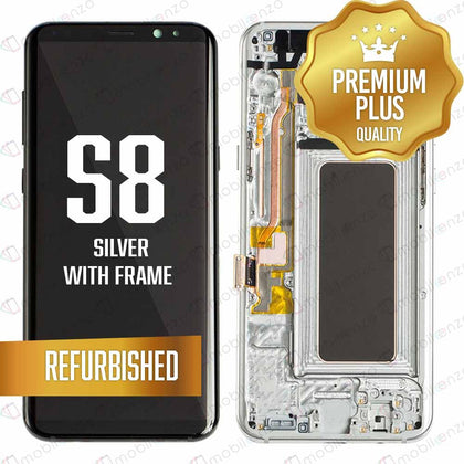 LCD Assembly With Frame for GALAXY S8 (G950) (Premium) - (Silver Frame)