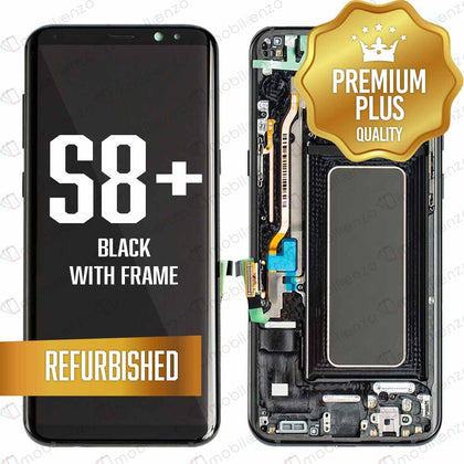 LCD Assembly With Frame for GALAXY S8 PLUS (G955) (Premium) - Black