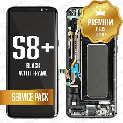 OLED Assembly for Samsung Galaxy S8 Plus With Frame  - Black (Service Pack)