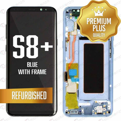 LCD Assembly With Frame for GALAXY S8 PLUS (G955) (Premium) - (Coral Blue Frame)