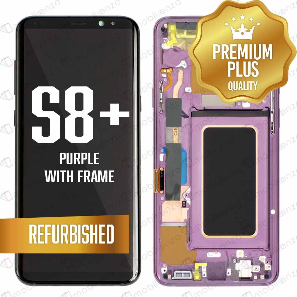 LCD Assembly With Frame for GALAXY S8 PLUS (G955) (Premium) - (Purple Frame)