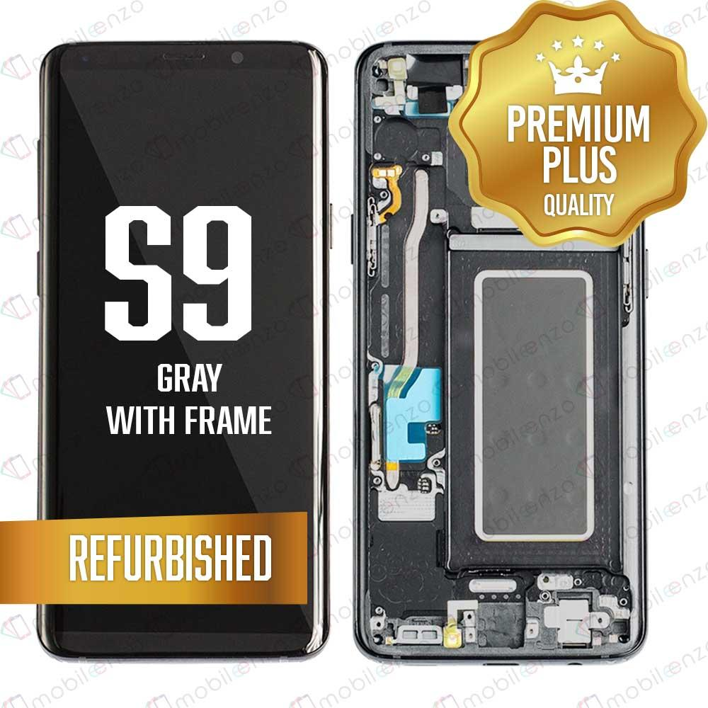 LCD Assembly With Frame for GALAXY S9 G960 (Premium) - (Gray Frame)