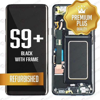 LCD Assembly With Frame for GALAXY S9 PLUS (G965) (Premium) - (Black Frame)