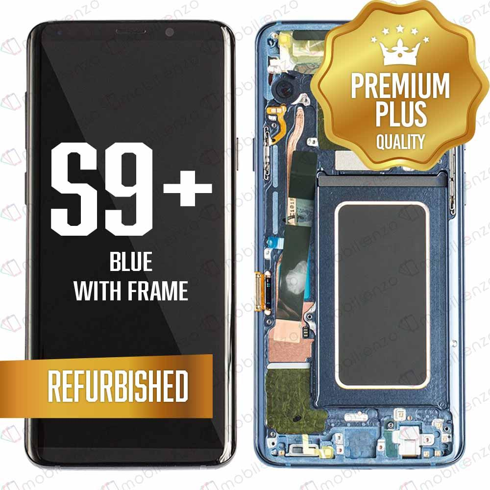 LCD Assembly With Frame for GALAXY S9 PLUS (G965) (Premium) - (Coral Blue Frame)