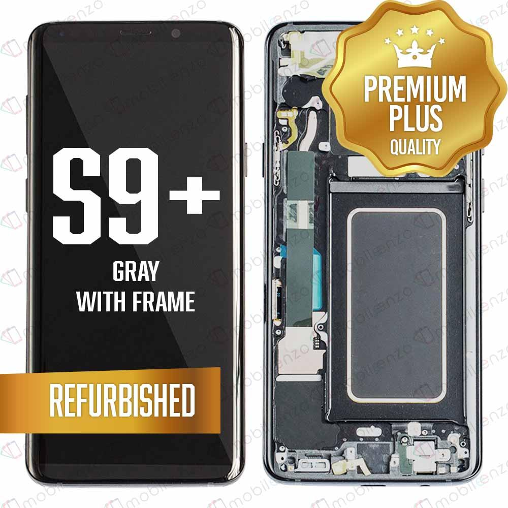 LCD Assembly With Frame for GALAXY S9 PLUS (G965) (Premium) - (Gray Frame)