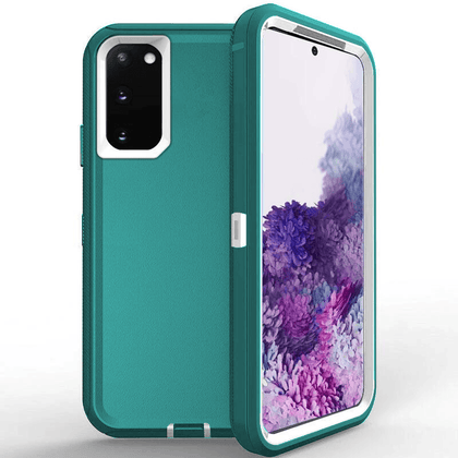 DualPro Protector Case for Galaxy Note 20 - Teal & White