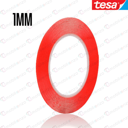 TESA Double Side Adhesive Tape - 1mm (33m) (RED)