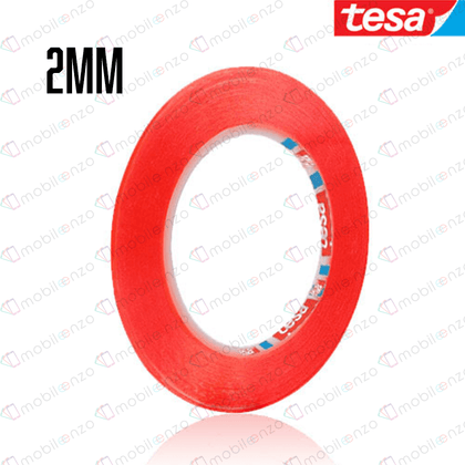 TESA Double Side Adhesive Tape - 2mm (33m) (RED)