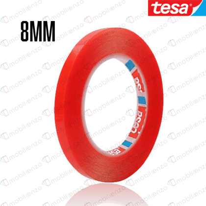 TESA Double Side Adhesive Tape - 8mm (33m) (RED)