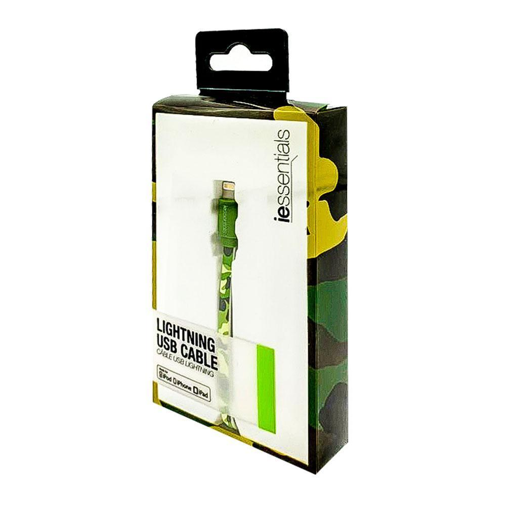 iessentials Lightening USB Cable MFI Certified 3.3 Foot - Camouflage