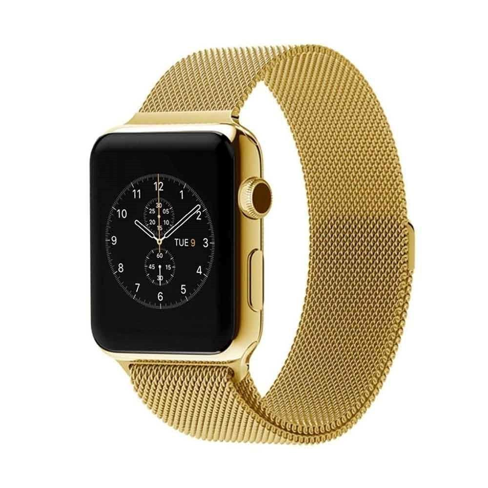 Stainless Steel iWatch Band 42/44mm - Gold