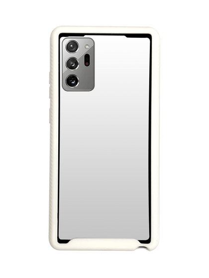 Hard Shell Transparent 3N1 Rugged Edge Back Case for Note 20 - White