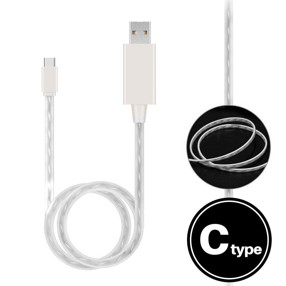 Light Up Cable for Type-C - White