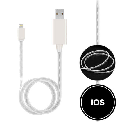 Light Up Cable for IOS - White
