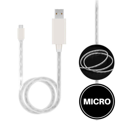 Light Up Cable for Micro - White