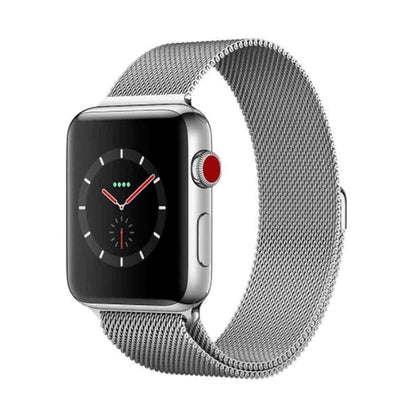 Stainless Steel iWatch Band 42/44mm - Silver