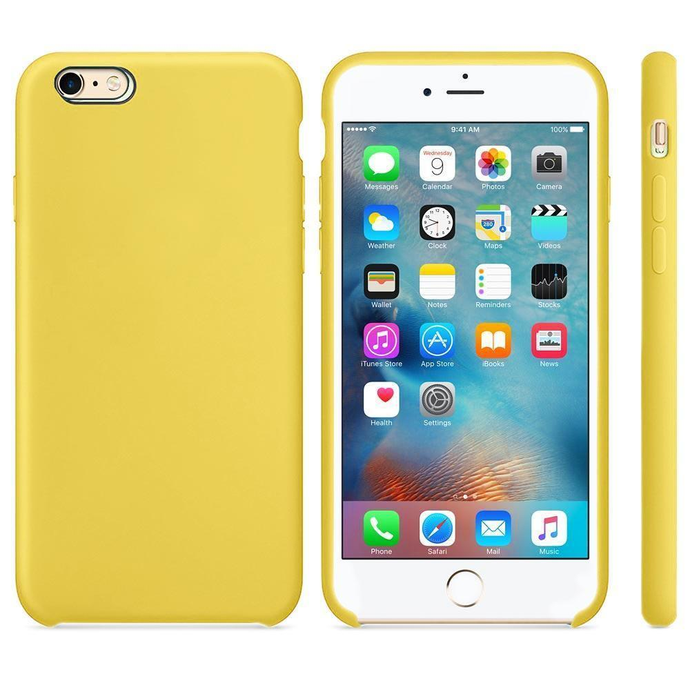 Premium Silicone Case For iPhone 6P, 6SP - Yellow
