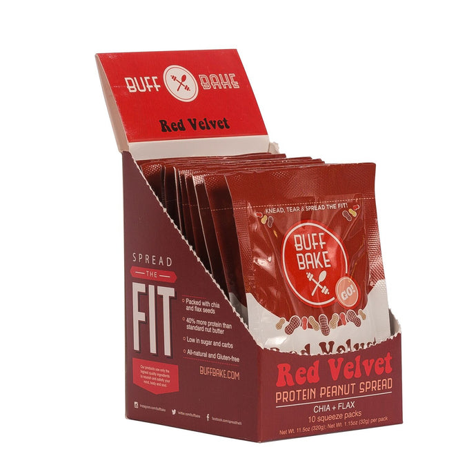 Red Velvet Protein Peanut Spread Pouches - 10 Pack