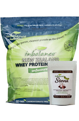 New Zealand Whey & Flavoured Stevia Combo