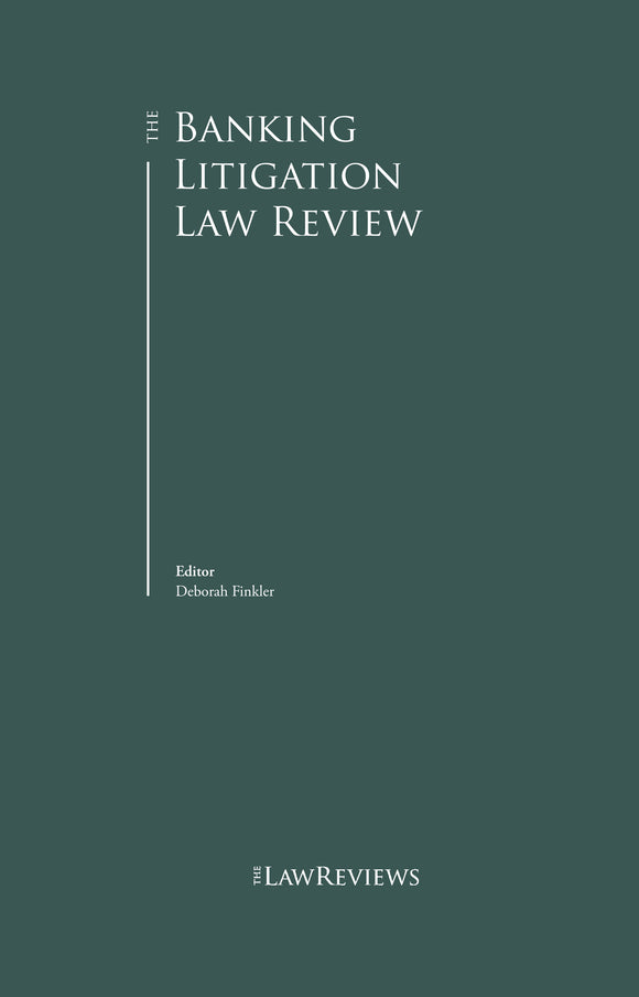 The Banking Litigation Law Review - 3rd Edition