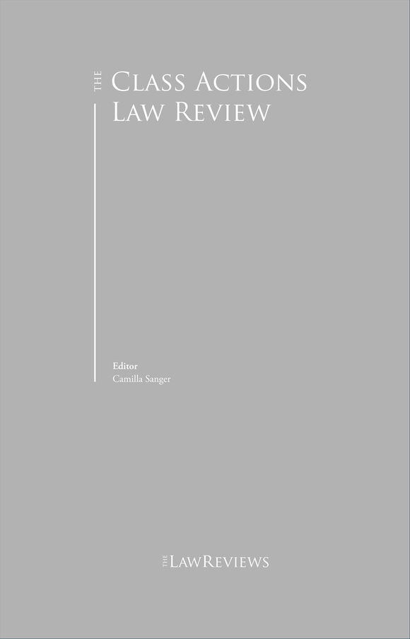 The Class Actions Law Review - 4th Edition