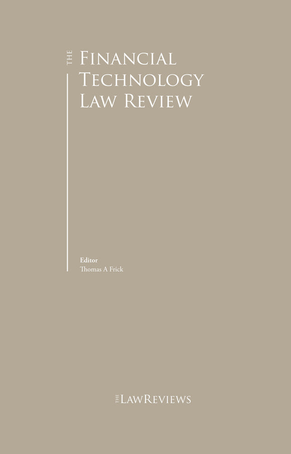 The Financial Technology Law Review - 2nd edition