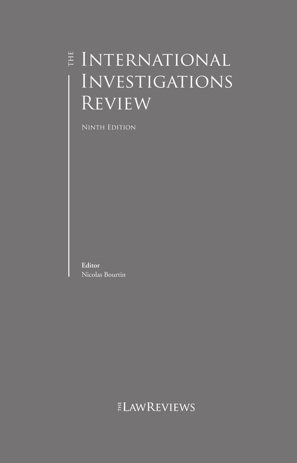 The International Investigations Review  - 9th Edition