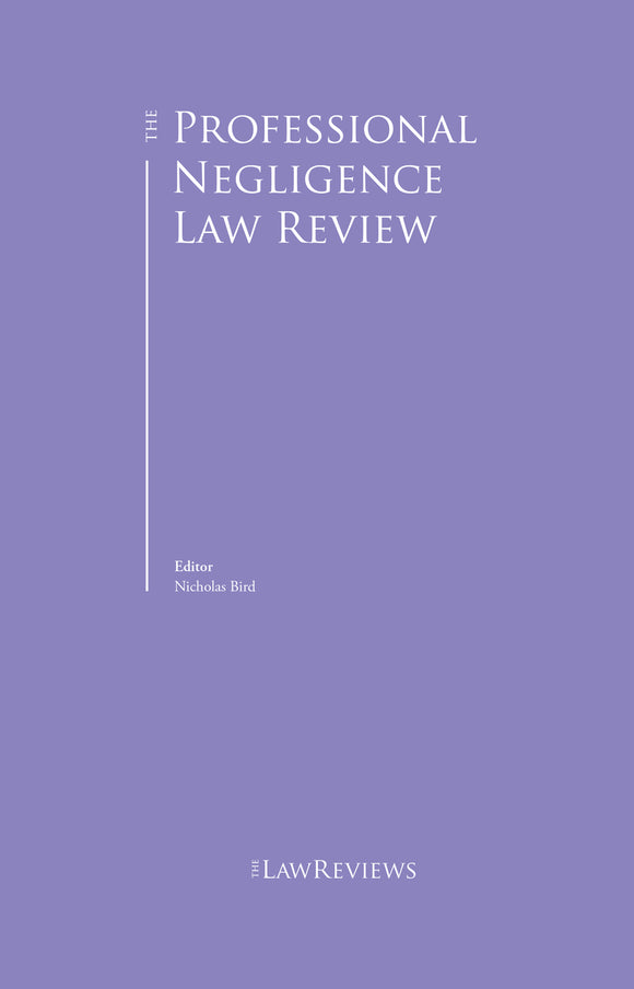 The Professional Negligence Law Review - 1st Edition