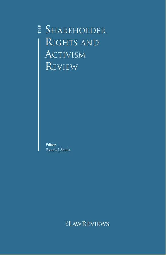 The Shareholder Rights and Activism Review – 3rd edition